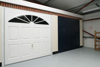 white or black garage door?