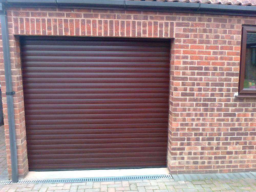 Roller Door In Decograin Rosewood Mansfield Garage Doors