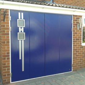 blue ryterna side hinged garage door